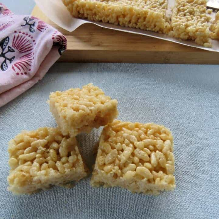 Honey Rice Bubble Slice