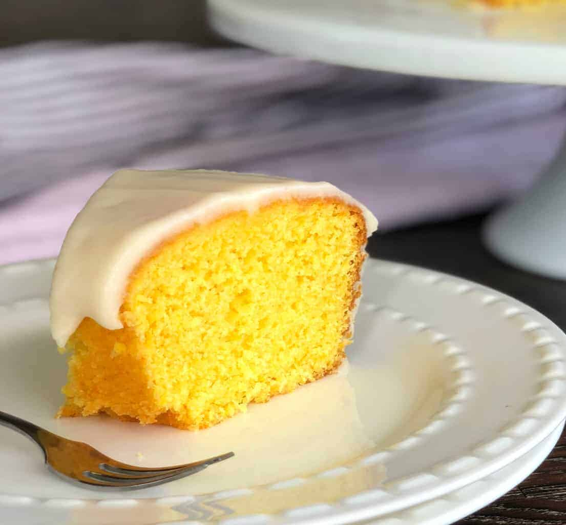 Slice of Whole Orange Cake