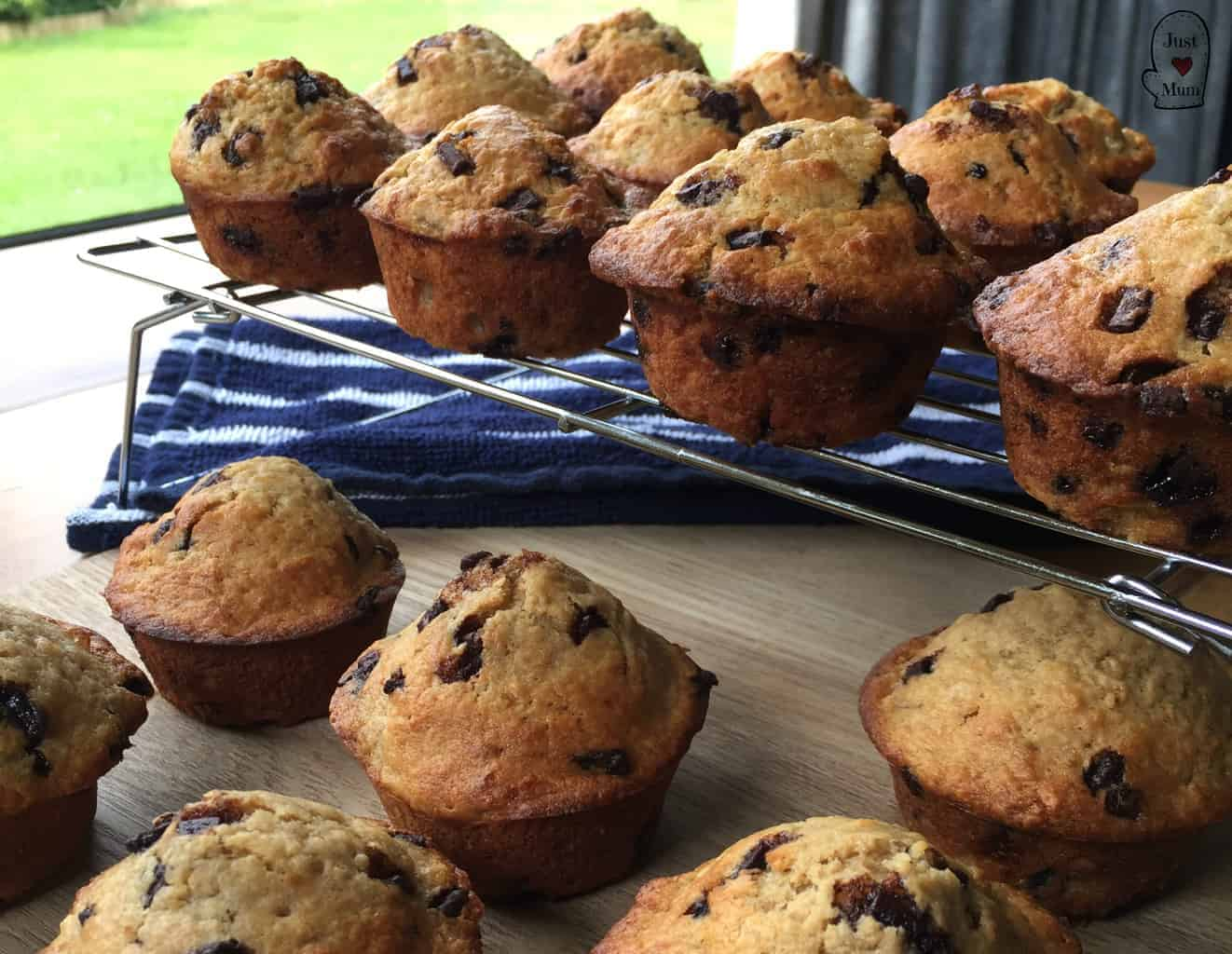 Banana Chocolate Chip Muffins - Just A Mum