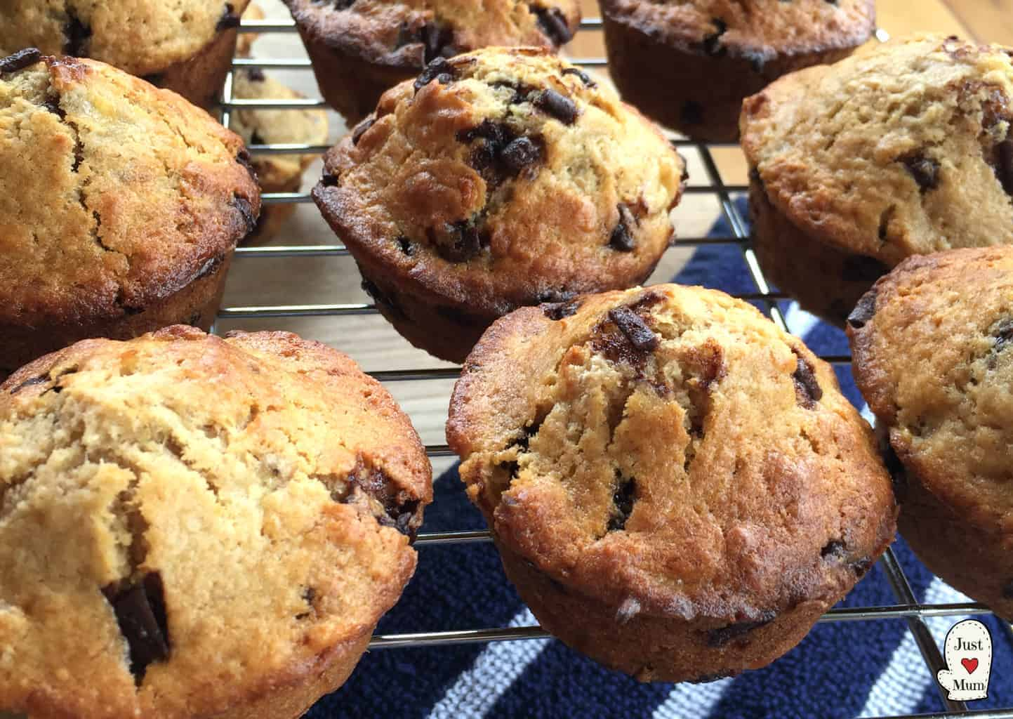 Banana Choc Chip Muffins - Just A Mum