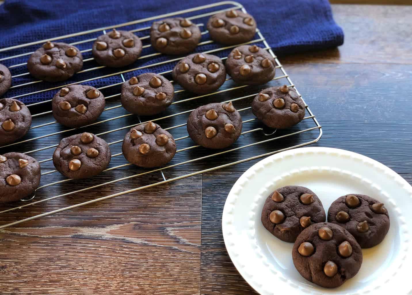 Double Chocolate Cookies Freshly Baked