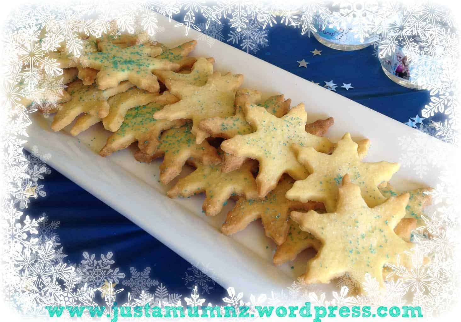 Frozen Themed Shape Cookies