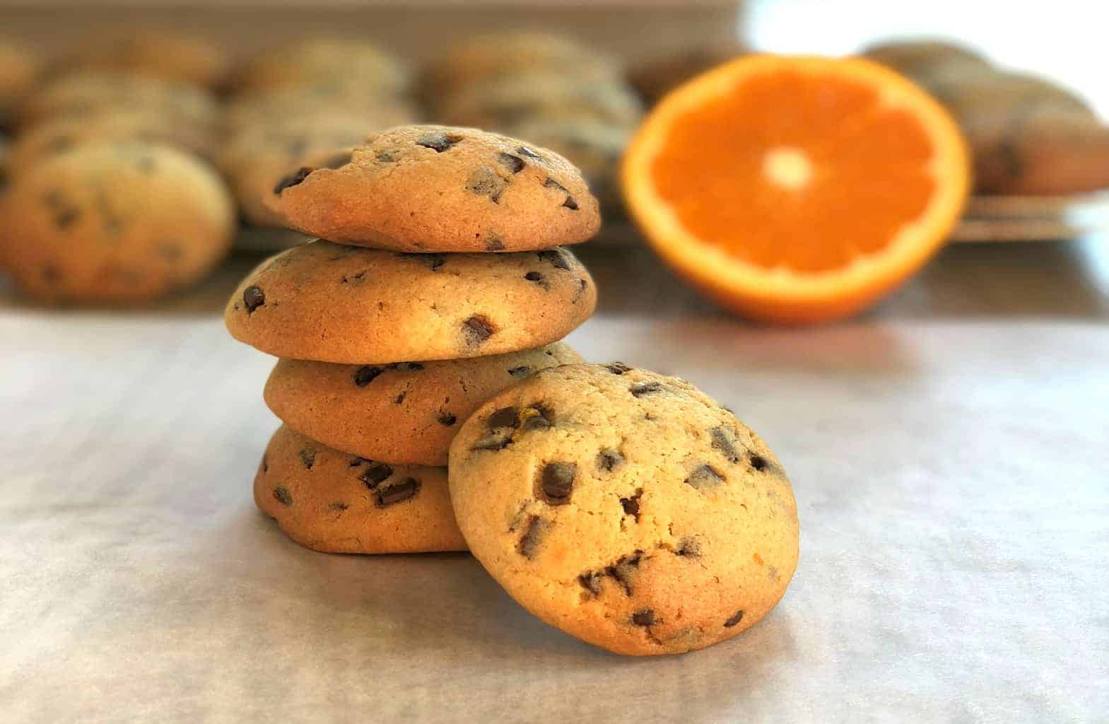 Just A Mum Orange Chocolate Chip Cookies with Zest