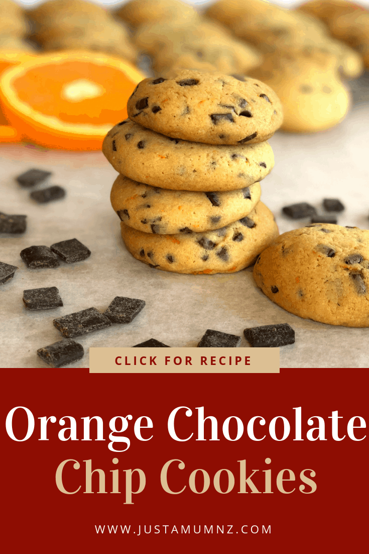 Delicious Orange Chocolate Chip Cookie Recipe, easy and packed with flavour and zest. #best #recipes #baking #kids #biscuits #cookies