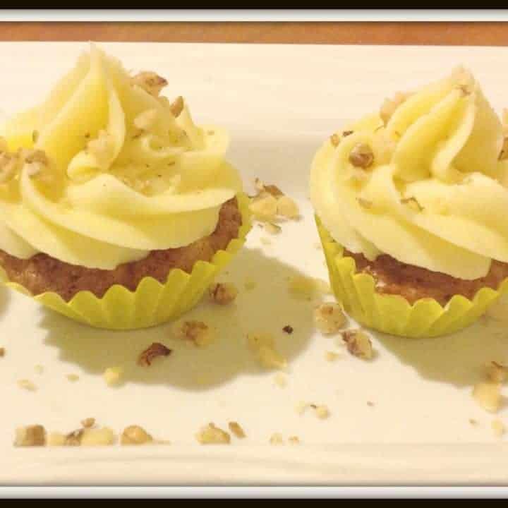 Carrot, Pineapple & Walnut Muffins