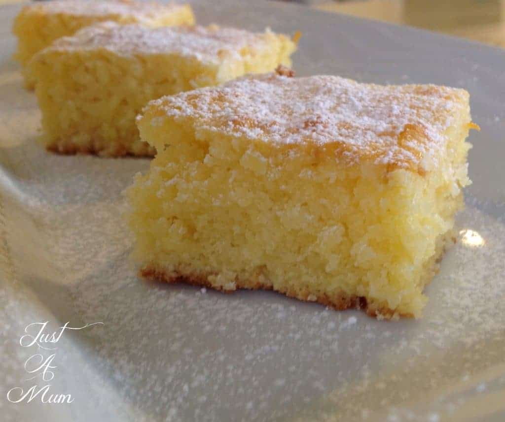Just A Mum Lemon Coconut Slice