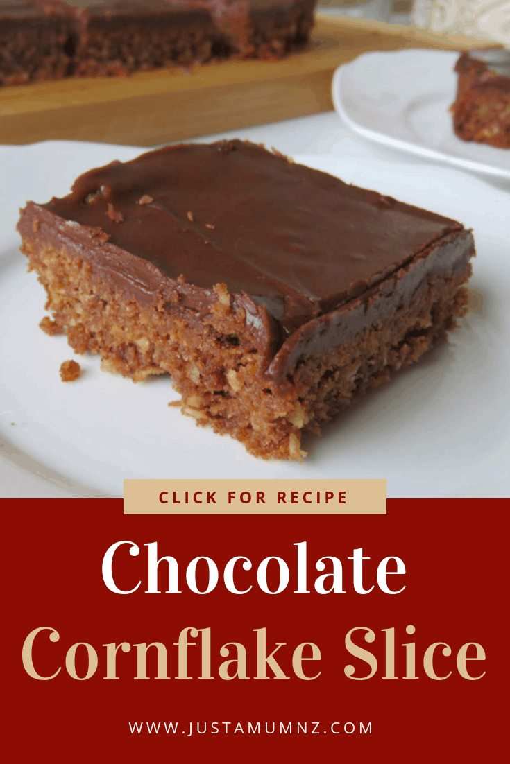 Delicious Chocolate Cornflake Slice, this is a great easy recipe. Have you made weetbix slice before, just like that. A great alternative. #recipes #baking #cornflakes #best