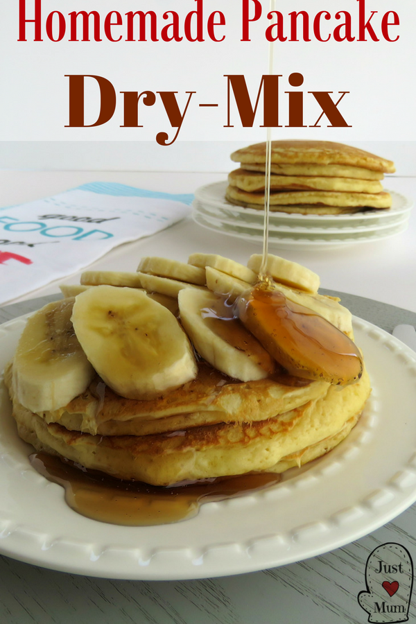 Delicious Home Made Pancake Mix, you will never need to buy store bought again. Super simple to use