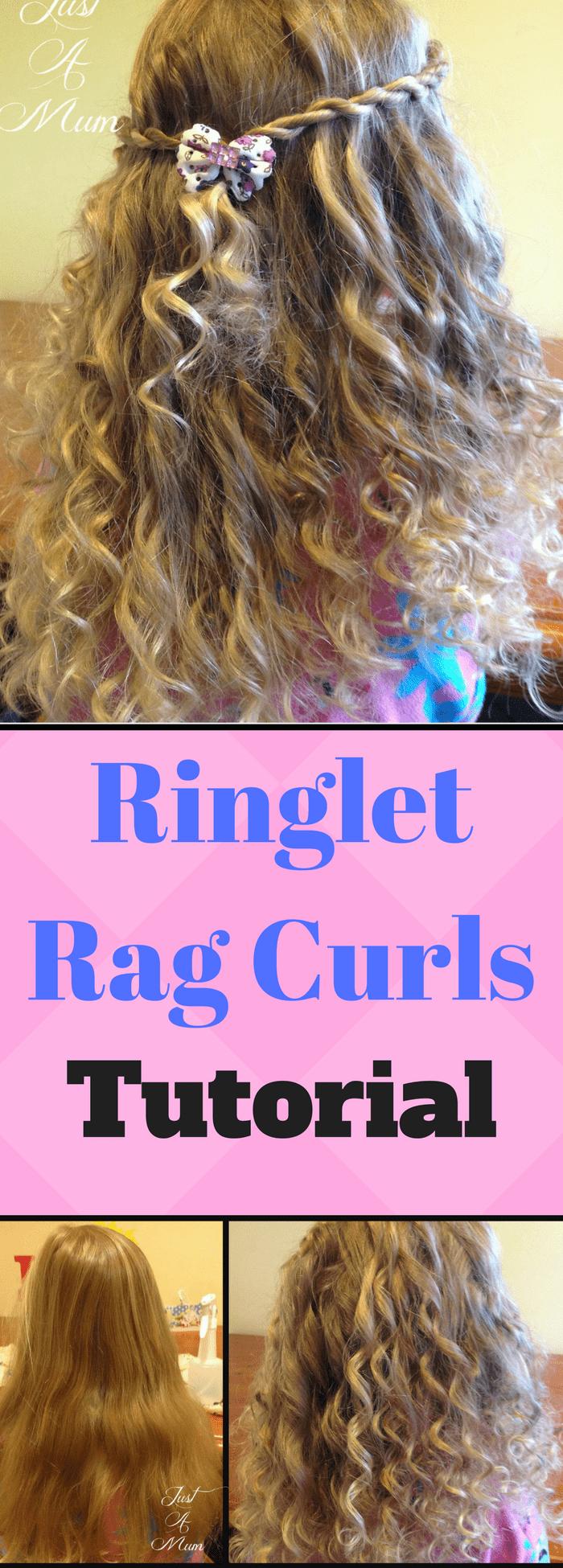 No Heat Ringlet Rag Curls Hair Tutorial Just A Mum