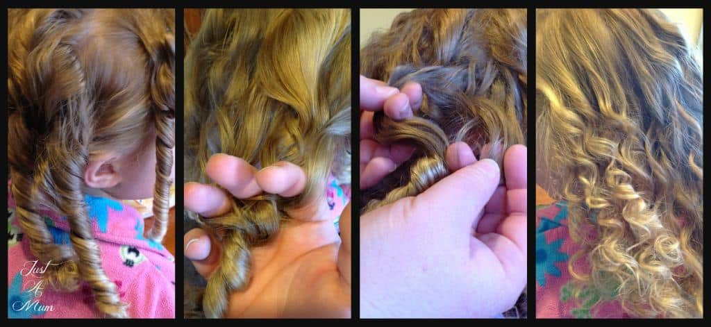 Rag Curls Tutorial Just a Mum