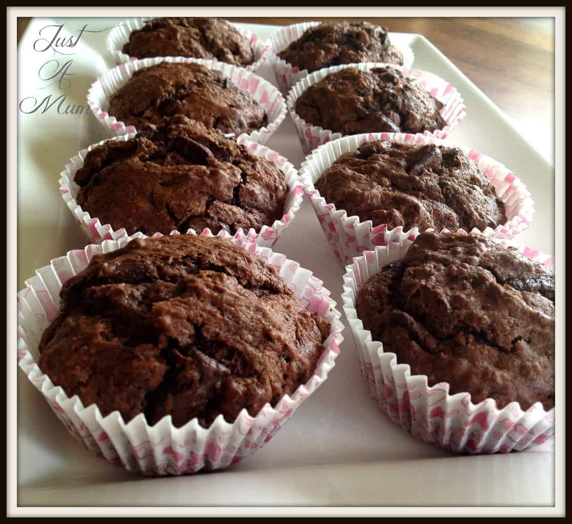 Double Chocolate Chip Muffins – Just a Mum