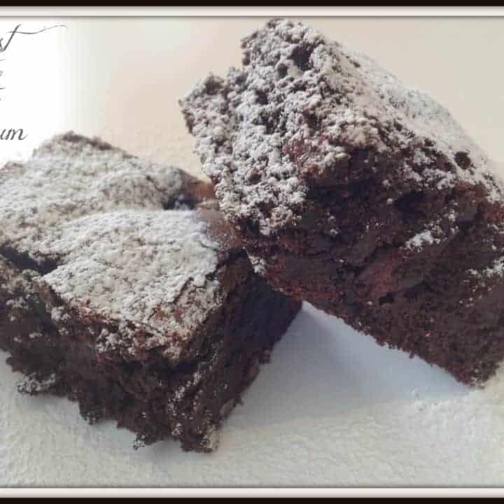 Ultimate Chocolate Brownie - With Raspberries