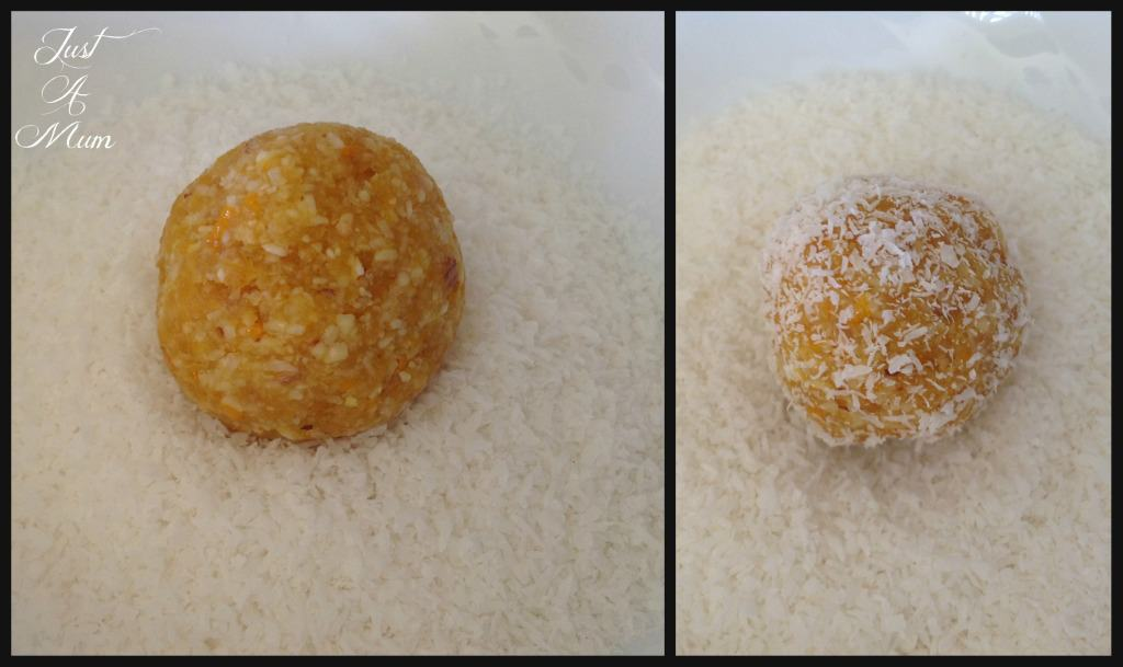 Just A Mum Apricot & Coconut Bliss Balls