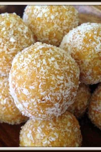Apricot & Coconut Bliss Balls