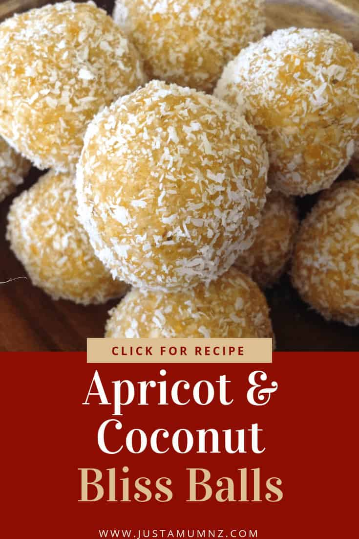 Delicious Apricot & Coconut Bliss Balls. So easy to make, healthy and quick. The best little recipe #recipes #dried #Fruit