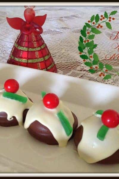 Chocolate Marshmallow Christmas Puddings