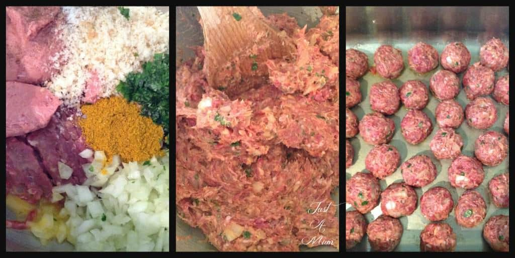 Step by Step for how to make meatballs