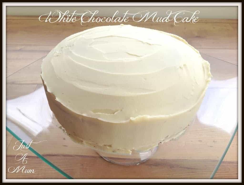 Just A Mums White Chocolate Mud Cake