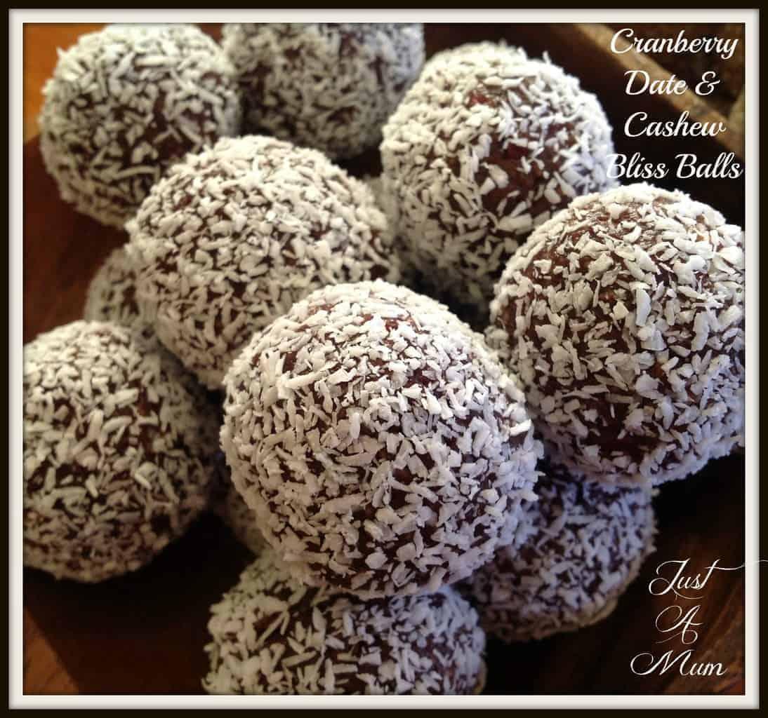 Cranberry Date Cashew Bliss Balls