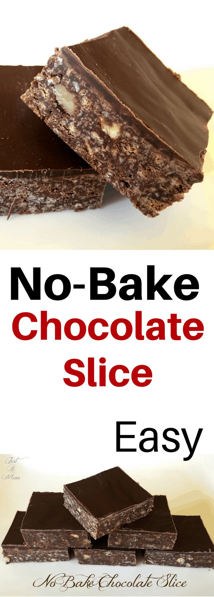 Just A Mum's Easy No Bake Chocolate Slice