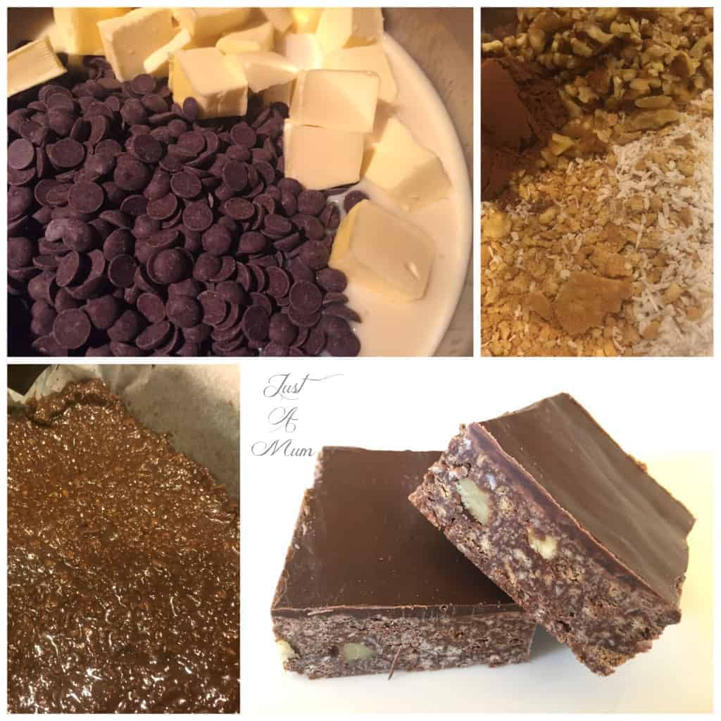 No Bake Chocolate Slice 1