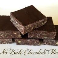 No Bake Chocolate Slice