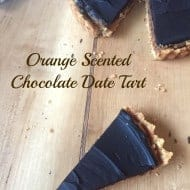 Orange Scented Chocolate Date Tart