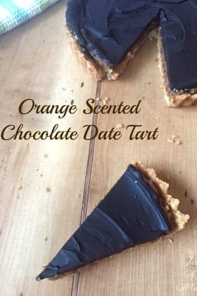 Orange Scented Chocolate Date Tart