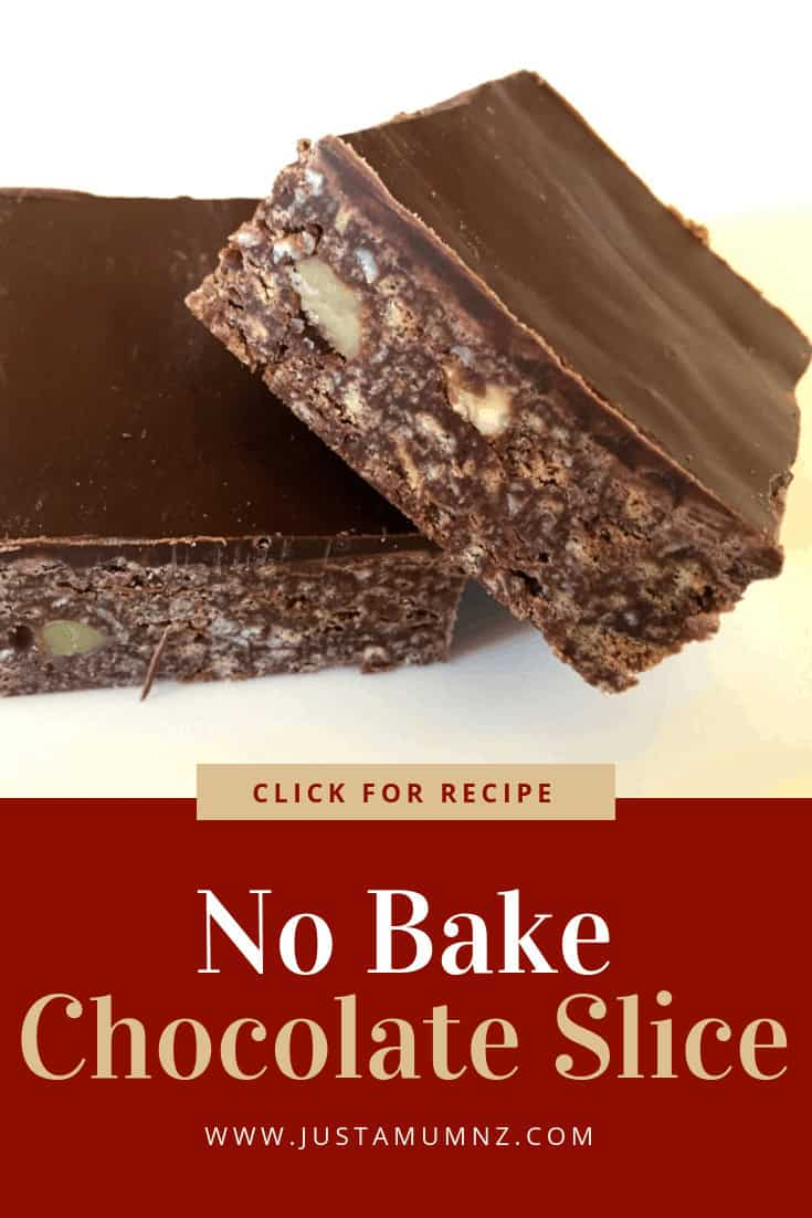 This easy No Bake Chocolate Slice is the best! Such a great base recipe and versatile. Condensed milk, chocolate, biscuits, all the good things! You will love these sweet treats #recipes #baking #best #easy #chocolate #nobake