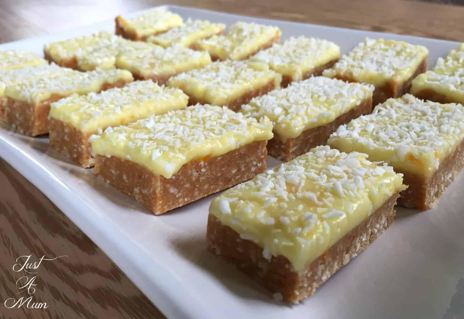 Just A Mum Citrus No Bake Slice