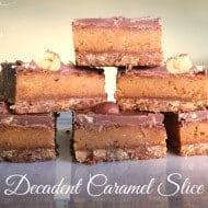 Decadent Caramel Slice