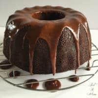 Chocolate Strawberry Jam Cake
