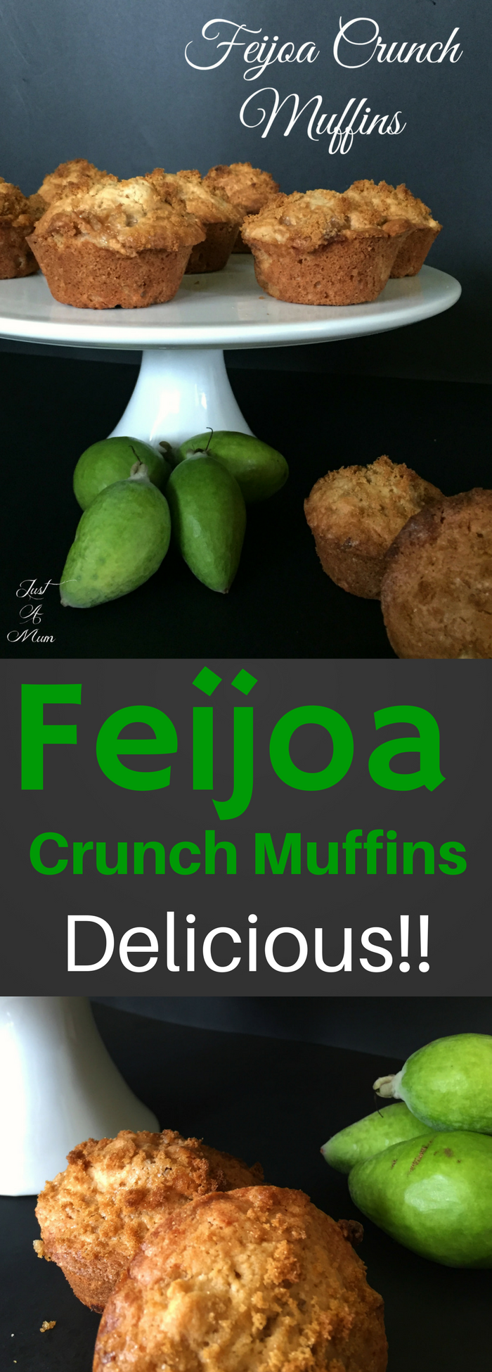 Just A Mum's Feijoa Crunch Muffins