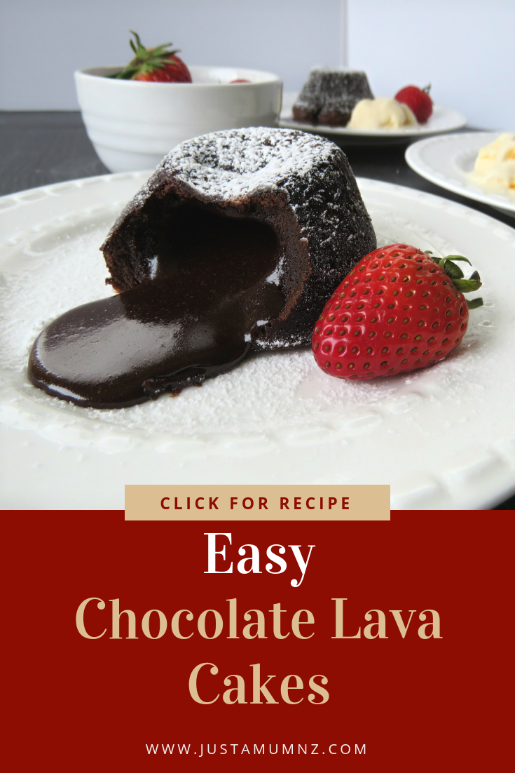These chocolate lava cakes are so easy, simply the best around. Delicious molten chocolate, this recipe and video will make it easy for you to  make these at home #oven #ramekin #crockpot #muffin