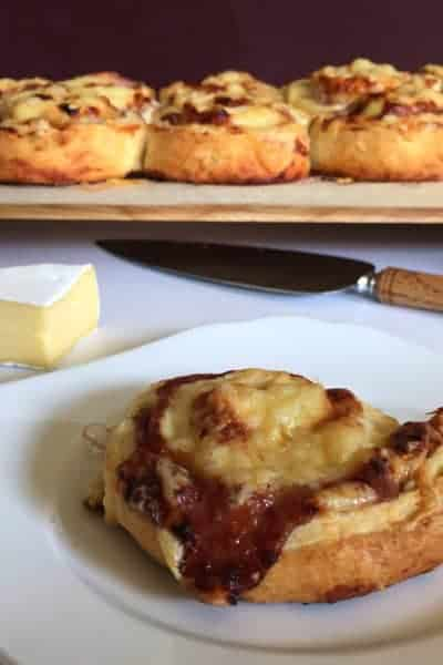 Chicken, Camembert & Plum Sauce Pinwheels