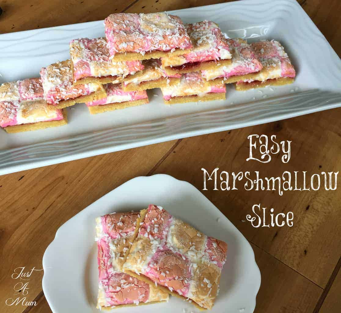 Easy Marshmallow Slice - Just A Mum