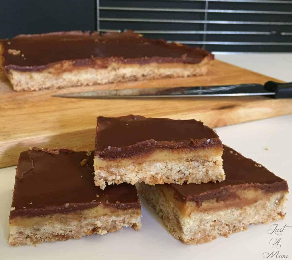 Just a Mum's Choc Caramel Weetbix Slice