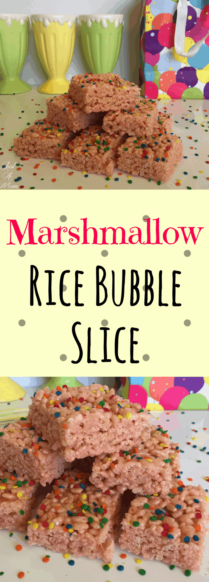 Just A Mum's Marshmallow Rice Bubble Slice Recipe
