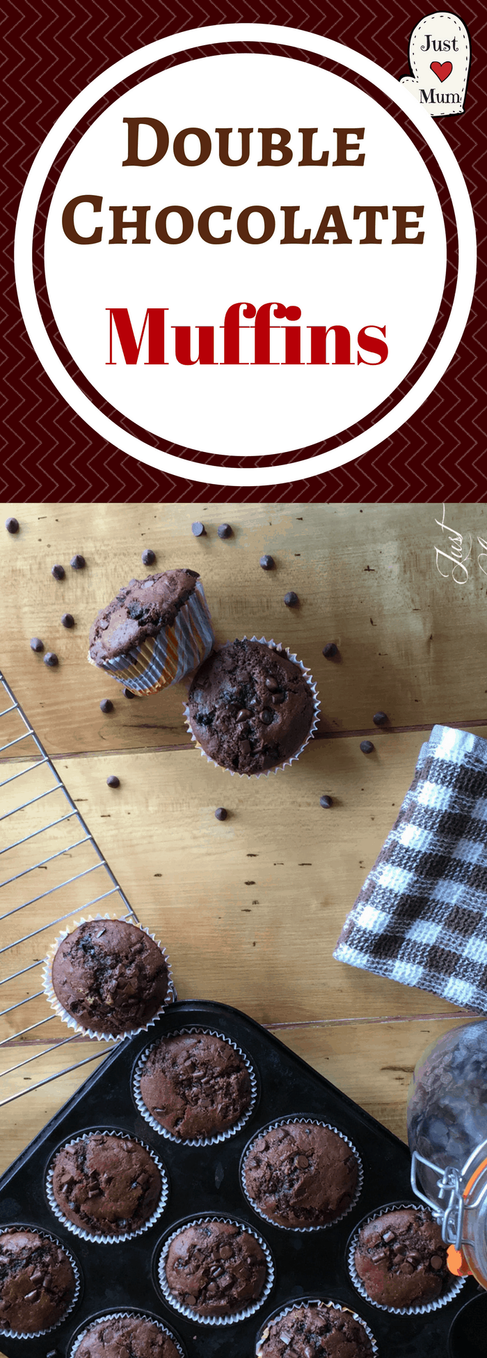 Double Chocolate Chip Muffins Just A Mum
