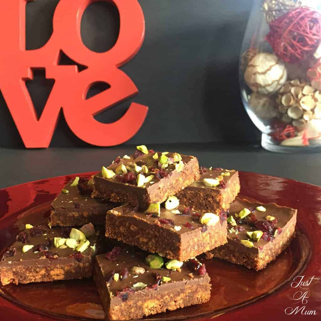 No Bake Chocolate Fudge Slice - Just A Mum