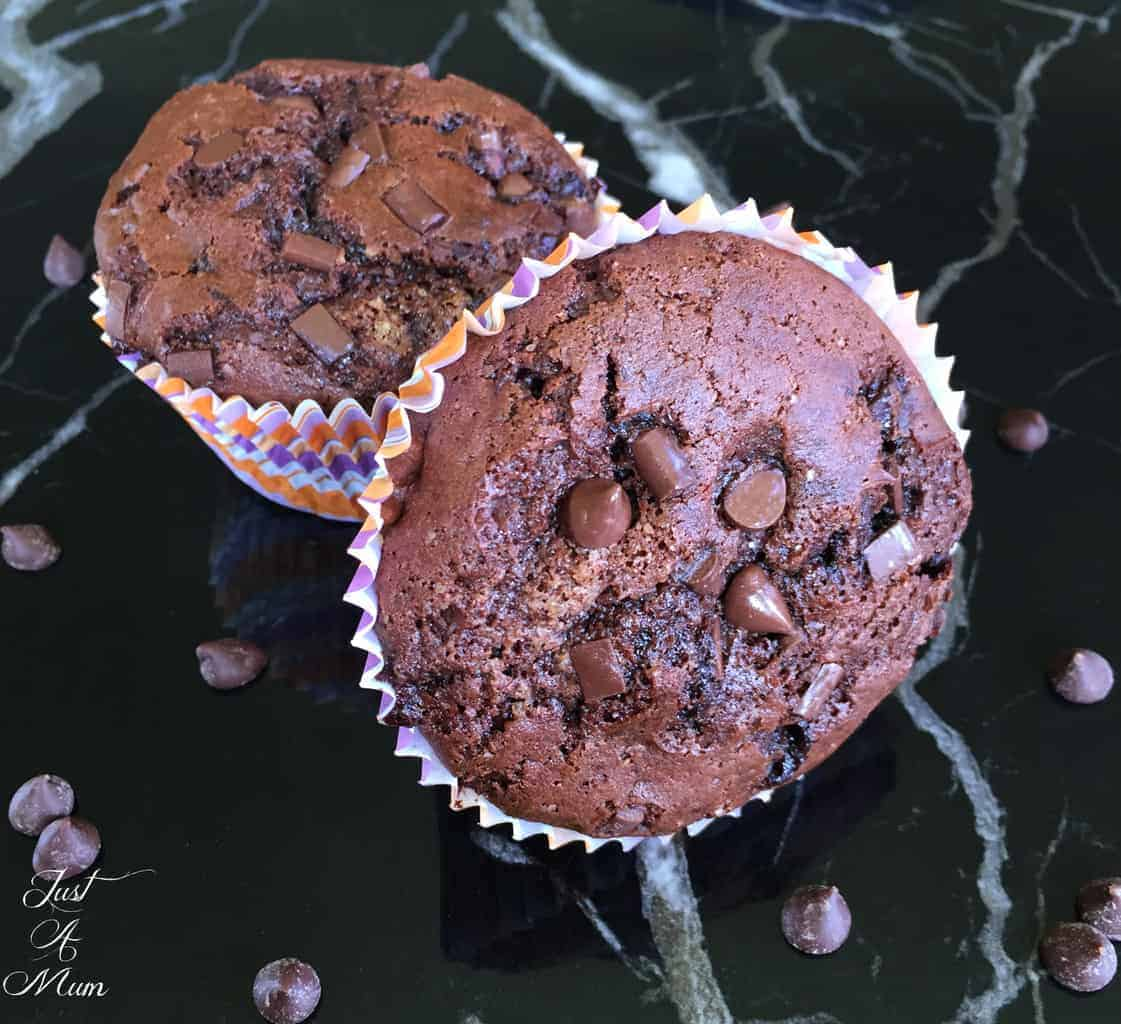 Just A Mum's Double Chocolate Muffin Recipe 2.0