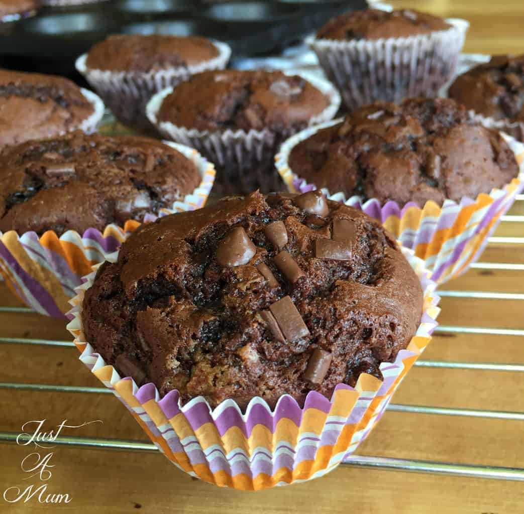 Double Chocolate Chip Muffins 2.0 – Just a Mum