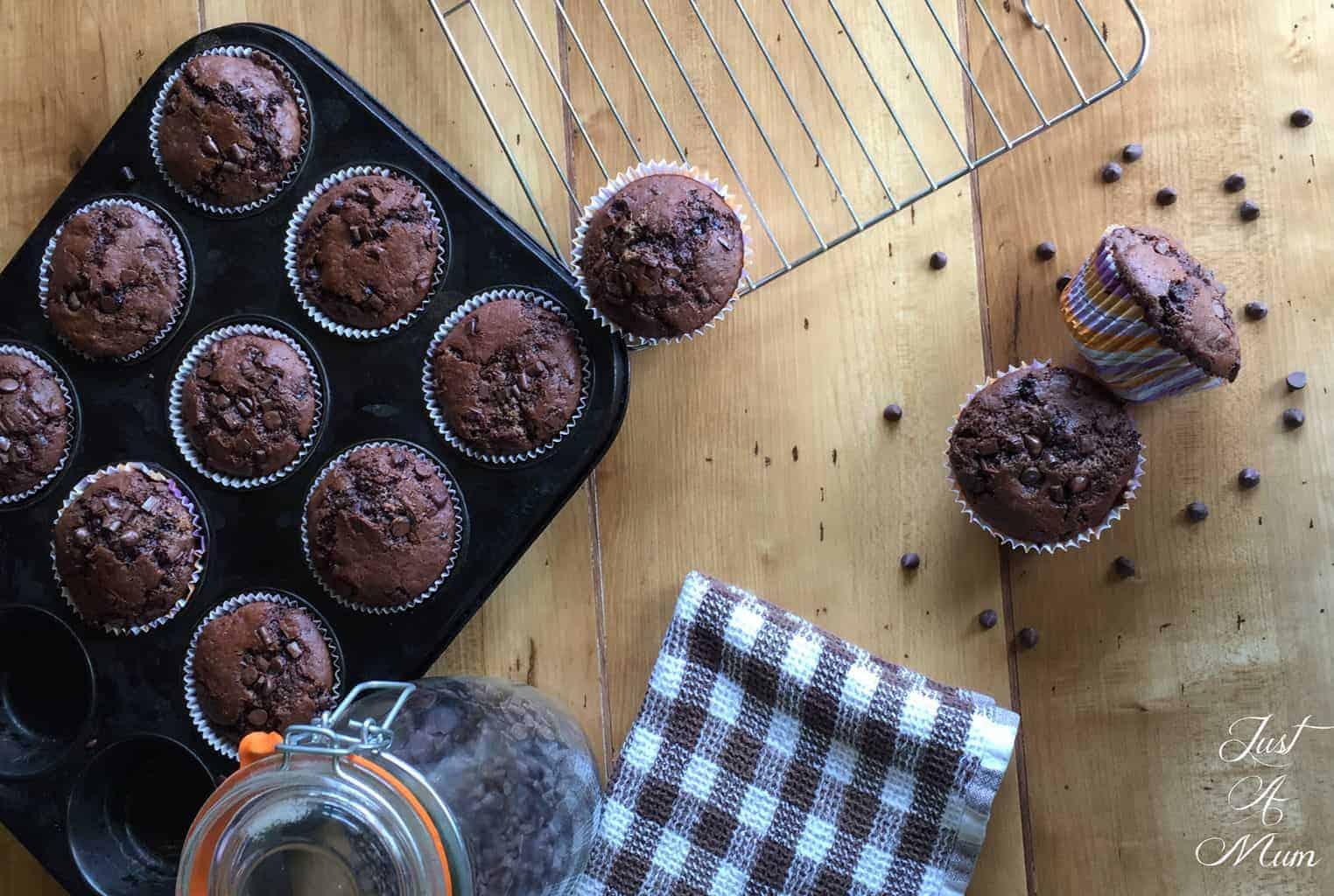 Just A Mum's Double Chocolate Muffin Recipe 2.0