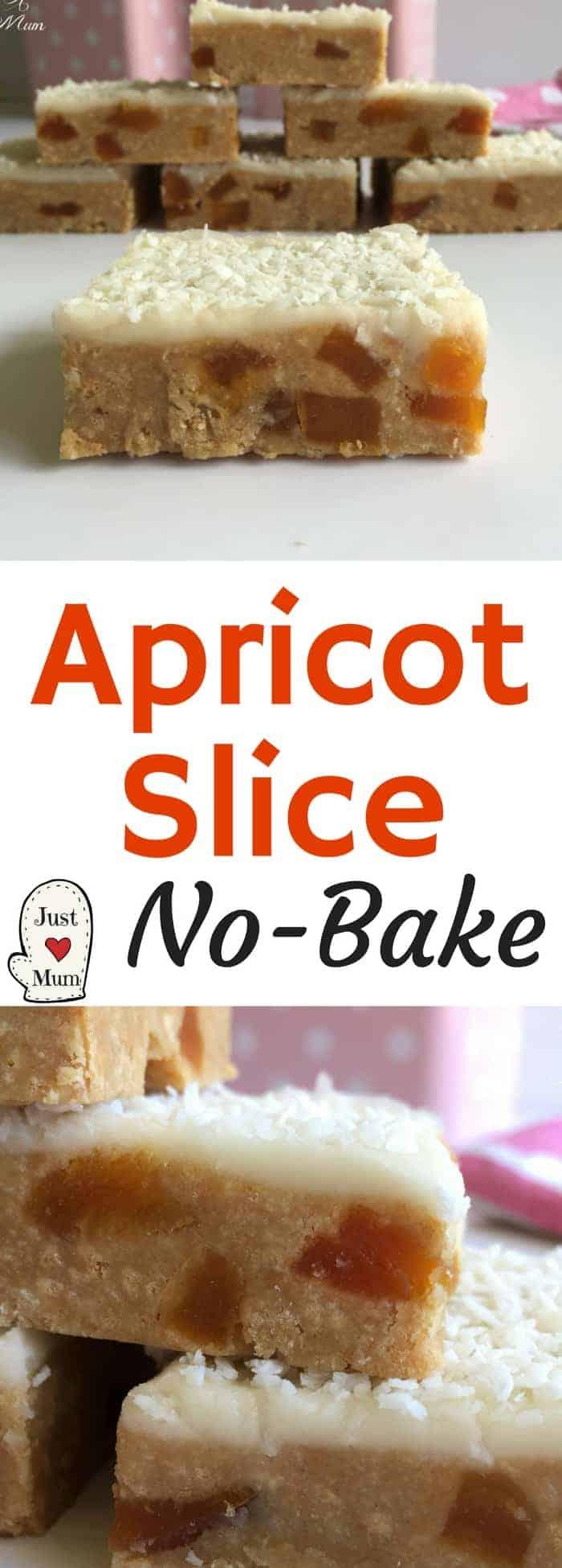 Just A Mum's Apricot Slice - No Bake