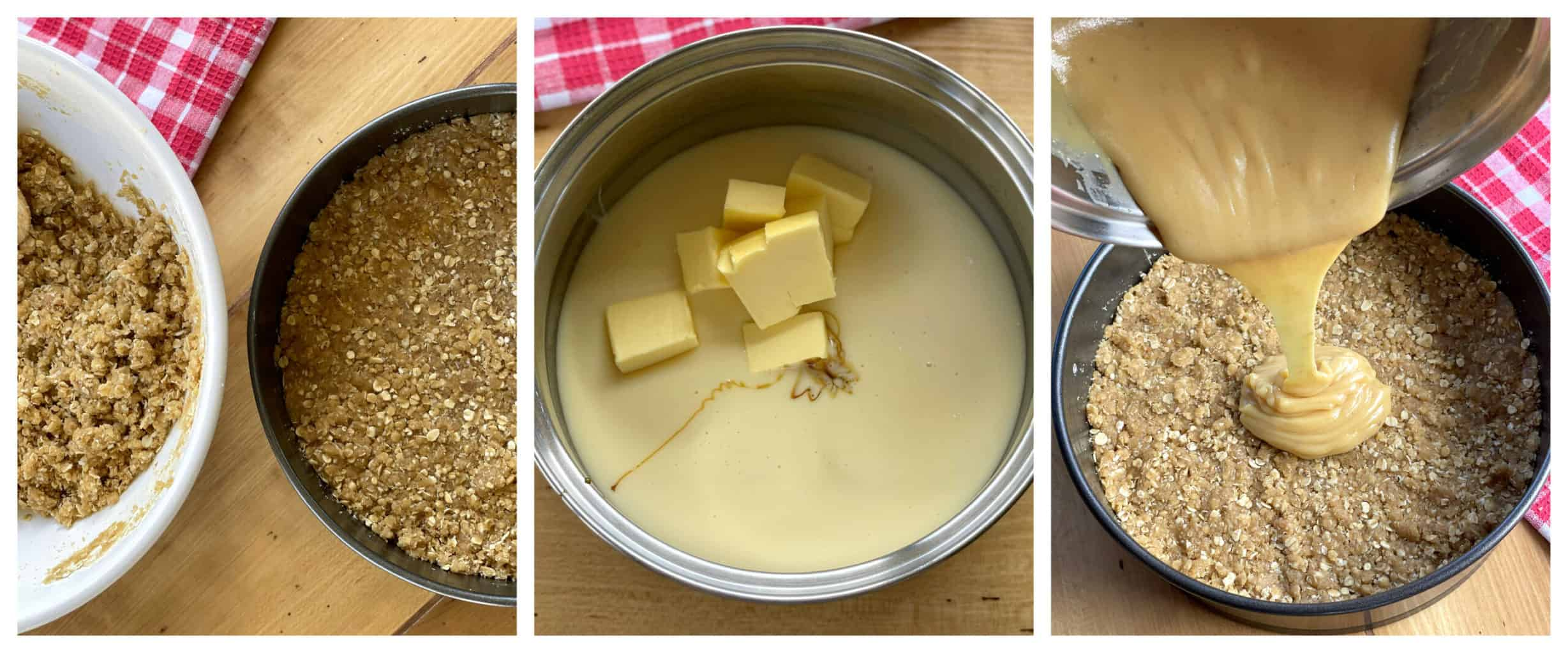 How to make caramel filling for Anzac Slice