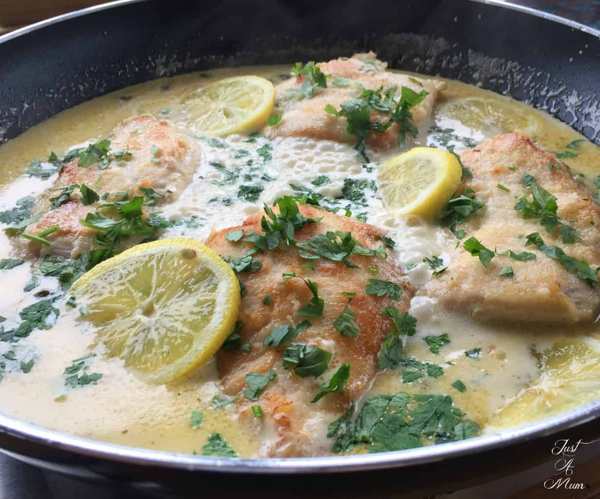 Creamy Lemon Parmesan Chicken - Just A Mum