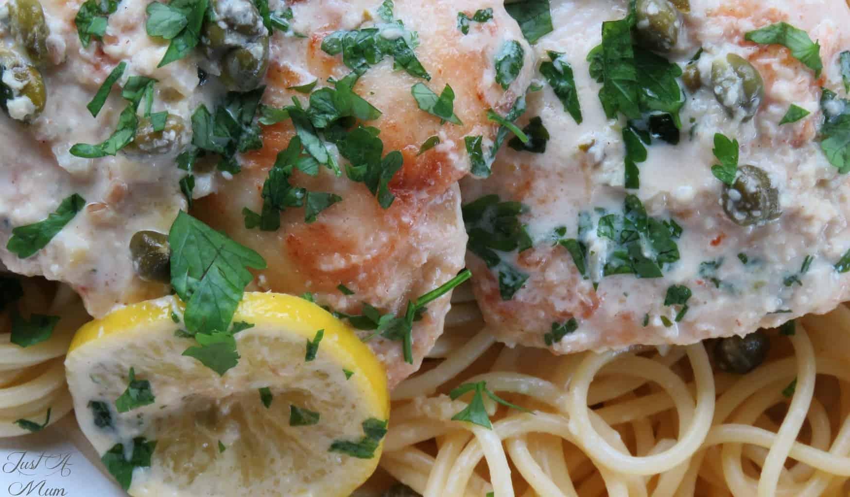 Creamy Lemon Parmesan Chicken - Just A Mum