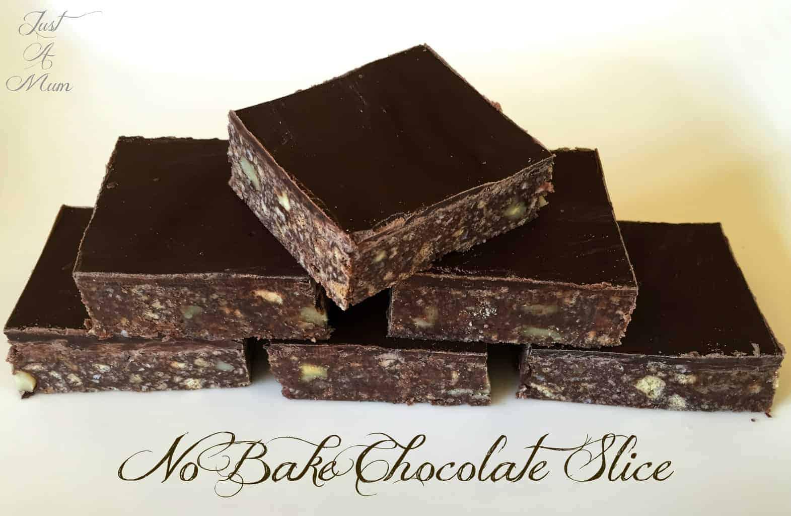 Just A Mum's No-Bake Chocolate Slice