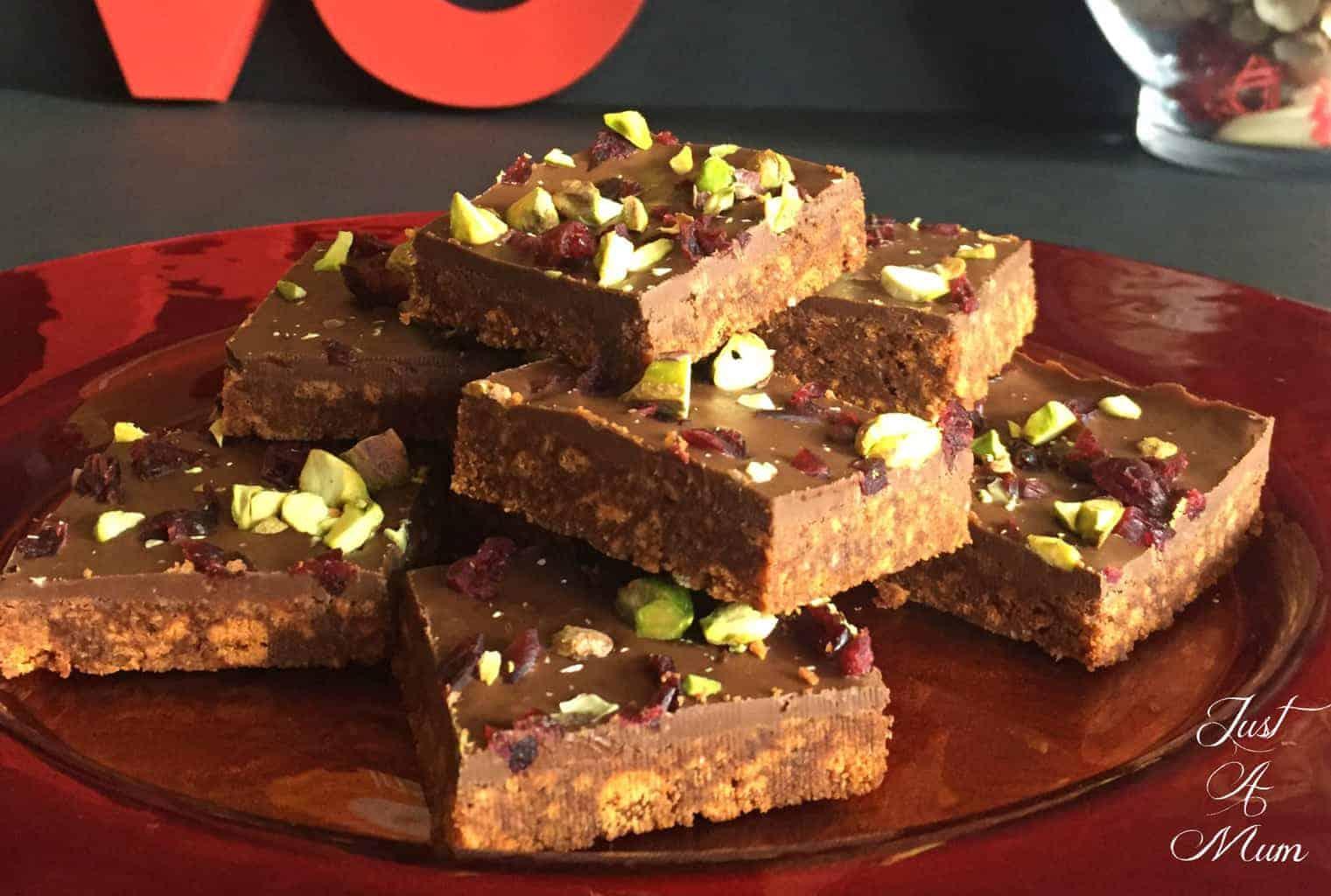 Just A Mum No Bake Chocolate Fudge Slice