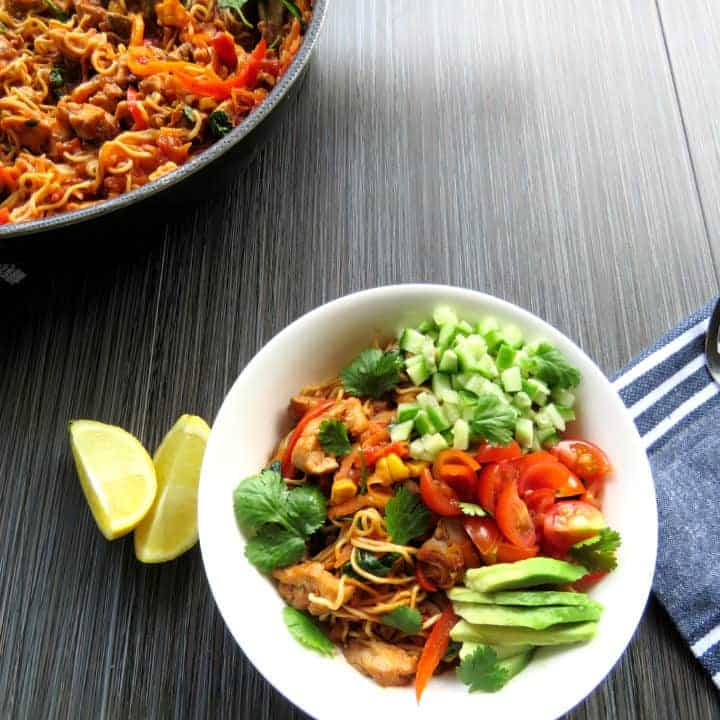 Chicken Burrito Noodle Bowl